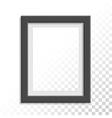 Black realistic photo frame vector image