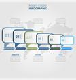 business infographics design elements message box vector image