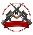 Logo design with fireguns vector image