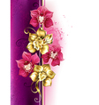 Design with Orchids vector image