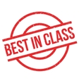 Best In Class rubber stamp vector image