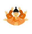 buddha lotus pose yoga isolated zen and vector image