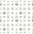 Bicolor line design background for sewing or vector image