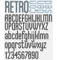 Retro triple line stripes font vector image