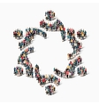 abstract business symbol people vector image