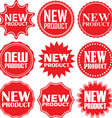 New product signs set new product sticker set vector image