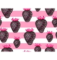 Abstract seamless pattern with strawberries in a vector image