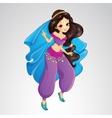 Arabian Princess In Purple Dress vector image