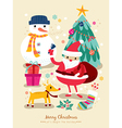 christmas santa claus cartoons vector image