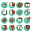 digital marketing icons in flat style vector image