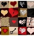 Love retro pattern vector image