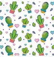 natural cactus plant house background vector image