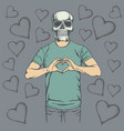 skull valentine day concept vector image