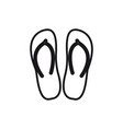 slippers line icon sign on vector image