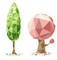 tree polygon vector image