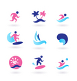 water sport and vacation icons vector image