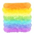 Watercolor rainbow vector image