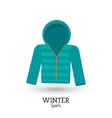 green winter sport jacket clothes vector image