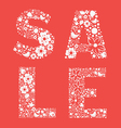 SALE floral banner one color vector image vector image