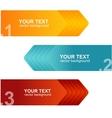 speech templates for text orange blue vector image
