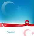 turkey ribbon flag background vector image vector image
