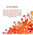 watercolor background frame vector image