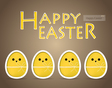 Happy easter cards with easter egg vector image vector image