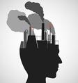 human head Stock vector image vector image