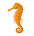 cartoon isolated orange comic seahorse vector image