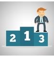 Flat about success design business vector image