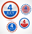 Set of 4th july labels vector