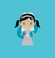 adorable bride lovely marriage cartoon theme vector image