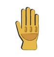 firefighter glove vector image