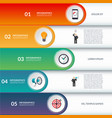 infographic options banner vector image