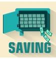 retro flat saving icon concept design vector image