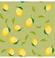 Seamless pattern with cartoon lemons Fruits vector image