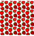 Seamless stawberry vector image