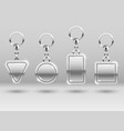 silver keychains in different shapes for house vector image