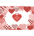 template to valentines day with hearts vector image