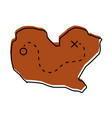 treasure map game icon vector image