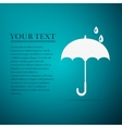 Umbrella flat icon on blue background vector image