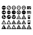 traffic signs and symbols vector image