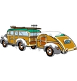 Wooden Station Wagon vector image vector image