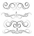 art calligraphy set of vintage decorative whorls vector image vector image