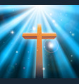 christian religion cross vector image vector image