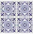 portuguese tiles pattern - azulejo blue design vector image