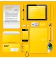 Yellow Corporate ID mockup vector image
