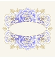 Romantic background with blue roses vector image vector image