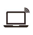 Laptop and wireless network vector image vector image