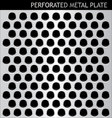Perforated metal plate vector image